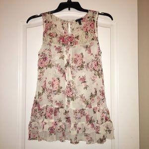 Fang | Floral lace blouse